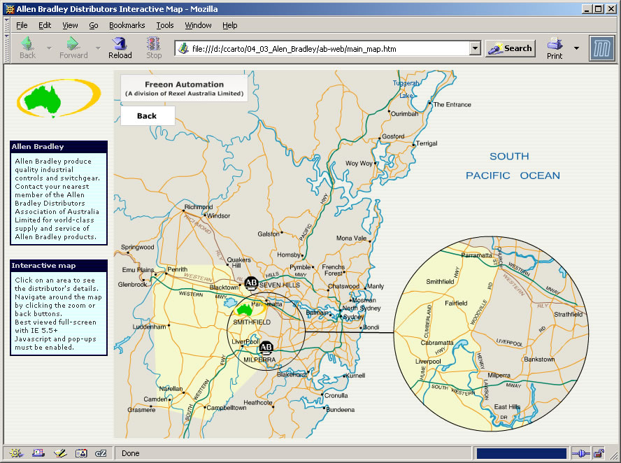 The Allen Bradley Distributors Group Of Australia Commissioned Us To Produce An Online Interactive Showing The Regions That Each Distributor Controls