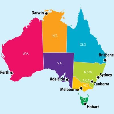 Australia Map Simple.Map Of Australia Simple